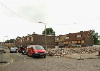De sloop van de Camera Obscurastraat in 2002.